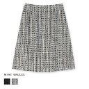 ファンシーツイードのセットアップスカート 大きいサイズ レディース 【MINT BREEZE ミントブリーズ】