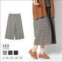 チェックガウチョパンツ(P) 大きいサイズ レディース 【MB エムビー】 婦人服 ファッション 3...
