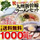 1000円 送料無料 ポッキリ 激うまラーメン欲張り3食セット 九州新幹線セット!鹿児島塩ラーメン、