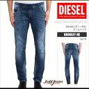 ディーゼル デニム ジーンズ メンズ JoggJeans KROOLEY-NE 0607R レギュラースリムキャロット スウェット DS7421