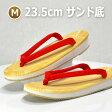履き心地の良い日本製・草履(ぞうり)女性用 赤鼻緒(赤ハイミロン)サンド底(スポンジ)14番サイズM(全長23.5cm)