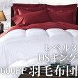 レベル3(270cmx235cm 1899g)600フィルパワーヨーロピアンダックダウン 羽毛布団 【USキング】   冬用 暖かい 送料無料【RCP】