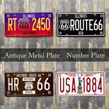 アンティーク ナンバープレート 【Antique Metal Plate・メタルプレート】