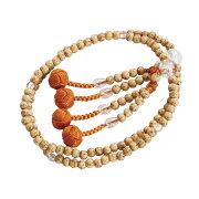数珠 本連 子供 星月菩提樹 水晶入 本式数珠 念珠 送料無料