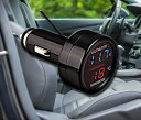 車載温度計電圧計 12V/24V対応 LED シガーライター式 VST21
