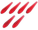 メール便可|星光産業:エアロフィンプロテクター レッド テールランプ テールレンズ 傷防止 ボルテックスジェネレーター 6個入り/EW-134