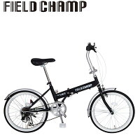 FIELD CHAMP FDB206S 折りたたみ自転車 折り畳み 折畳み 6段変速 ブラック ミムゴ MG-FCP206の画像