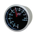 オートゲージ/Auto Gauge:52φ 2インチ 2inch スモークメーター 電圧計 ホワイトLED/52-ASMVOSWL-270