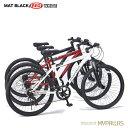 マウンテンバイク26インチ 6段変速自転車 Fサス MTB ハードテイル 街乗り レジャー レッド MYPALLAS/マイパラス 池商 M-620N