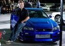 BUGATTI - ワイルドスピードミニカー 1/43 GreenLight☆ワイルドスピードMAX  2002 スカイライン GTR ブルー 【入荷しました!】ポイント5倍