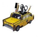 おしゃれな文房具♪ イエローキャブ ニューヨークタクシー ペン立て♪ 黄色 ペンたて おしゃれ ミニクーパー フォルクスワーゲン ビートル VW おもちゃ収納 トミカ収納 ポイント5倍