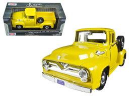 1/24 MOTORMAX☆1955 フォード F100 ピックアップトラック 黄色 パンプキントラック 【予約商品】