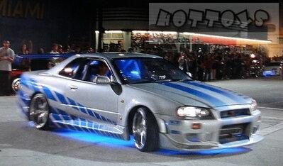 1/18 GreenLight☆ワイルドスピード  1999 スカイライン GTR 銀/ブルー R34【予約商品】ポイント5倍
