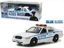 SHELBY - ミニカー 1/18 GREENLIGHT☆パトカー ハイウェイパトロール フォード・クラウンビクトリア・インターセプター「NYPD パトカー」黒/白 【予約商品】