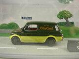 ◎EDICOLA☆1/43 フィアット500 ジャルディニエラ バン 緑/黄「Olio Carli」 (ジオラマセット?)