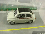 ◎EDICOLA☆1/43 FIAT500 アバルト グレー フィアット500 (ジオラマ?レースセット?)