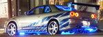 1/43 GreenLight☆ワイルドスピード  1999 スカイライン GTR シルバー/青 【予約商品】