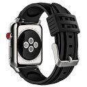 Apple Watch 38mm/42mmバンド Series 1 / Series 2 / Series 3 ソフトシリコーン製腕時計ストラップ/バンド/交換ベルト/交換ラグ