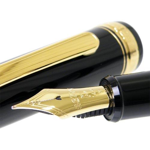 platinum 白金钢笔 3776世纪黑色界内黑色钢笔pnb 10000
