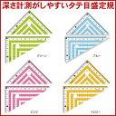 【共栄プラスチック】カラー三角定規じょうぎ COLOR RULER カラールーラー CPK-120