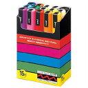【三菱鉛筆】ポスカ中字 15色入 図工に最適なペンus8-631-1061532P17Sep16