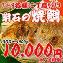 焼鯛7〜8名さま位の大きさ<焼き鯛11月上旬発送分>【長寿のお祝い・お食い初め祝膳に焼き鯛】