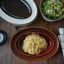 amabro アマブロ オーバルプレート amabro DAYS OF KURAWANKA 4カラー 波佐見焼【アマブロ カレー皿 楕円皿 プレート 陶器 和食器 器 楕円皿 ギフト 皿 スリップウェア】