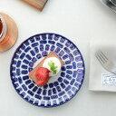 本郷里奈(ほんごうりな) ラピス/モザイク 6寸平皿【プレート 丸皿 和食器 作家 花柄】