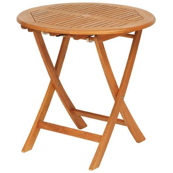 オルネ ド シエスタ 天然木 ラウンドテーブル 70cm T-3 天然木ガーデンファニチャー!