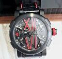 【新品】ROMAIN JEROME ロマン ジェローム スチームパンク ブラック&レッド RJ.T.AU.SP.005.04 ステンレススチール メンズ 腕時計 watch【送料・代引手数料無料】