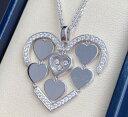 【新品】Chopard ショパール HAPPY DIAMONDS ネックレス 18Kホワイトゴールド ダイヤモンド 797220-1002 (18Kホワイトゴールド24.6g/ダイヤ1.03ct)