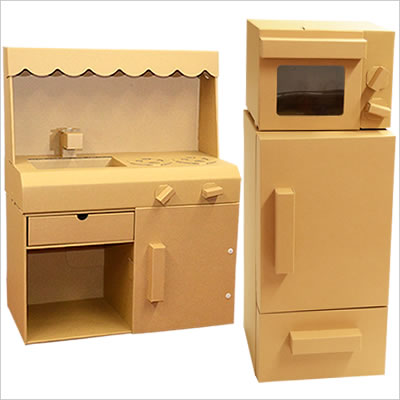 Howay cardboard store rakuten global market three points of playing house kitchen for Kitchen set toys r us philippines