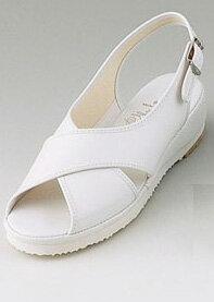 マリアンヌナースサンダル(クロス) No.9 ホワイト 【ナースサンダル・ナースシューズ・ナース靴】