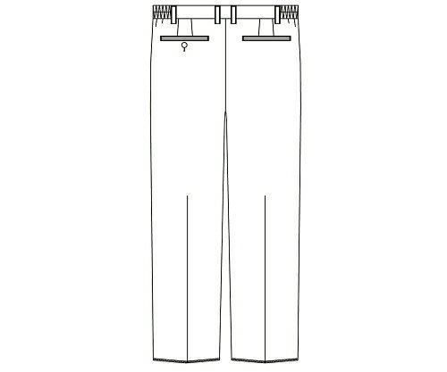KAZEN・アプロン メンズスラックス(ベーシックスタンダード) ホワイト M 8-6857-02