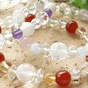 選べる20種!パワーストーン ブレスレット 水晶 アクアマリン ローズクォーツ レディース 手彫り 幸運の四つ葉のクロ…