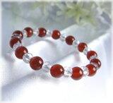 【今ついてる価格より20%オフ】パワーストーン 【(メール便発送)】美しいオレンジ色♪カーネリアンブレスレット04 パワ−スト−ン 天然石