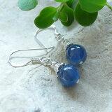 パワーストーン 天然石パワーストーン 【(メール便発送)】藍色の結晶 カヤナイト AAA(高品質)ピアス パワ?スト?ン 天然石