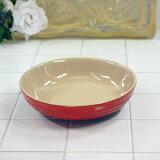 ル・クルーゼ ラウンド・ディッシュ 20cm チェリーレッド 910344-20-06 (日本正規販売品) ルクルーゼ(Le Creuset)