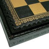 从意大利进口。豪华国际象棋盒 - 国际象棋国际象棋盒板 - 意大利219GN制造[【イタリア製チェスボックス】イタリア チェスボックス 219GN]