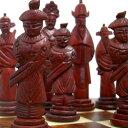 数量限定【オリエンタルチェス駒】手彫り 牛骨製 チェス駒