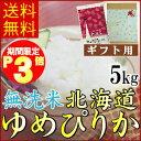 お中元にも!★早割特典ポイント3倍★無洗米北海道産ゆめぴりか5kg