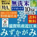 特別栽培米(環境こだわり栽培)無洗米 29年産 滋賀県産みず...