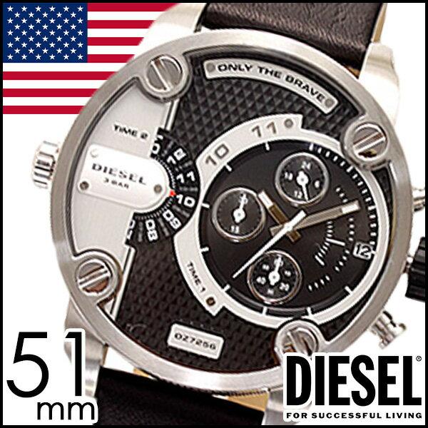 ディーゼル腕時計 [ DIESEL時計 ]( DIESEL 腕時計 ディーゼル デュアルタイム ) リトルダディー ( LITTLE DADDY ) メンズデュアルタイム/ブラック/DZ7256 [ クリスマス ]