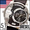 ディーゼル腕時計 [ DIESEL時計 ]( DIESEL 腕時計 ディーゼル デュアルタイム ) リトルダディー ( LITTLE DADDY ) メンズデュアルタイム/ブラック/DZ7256 [