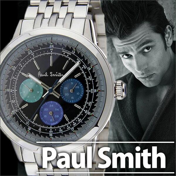 ポールスミス 時計 メンズ 男性 [ paul smith ] 腕時計 プレシジョン ( PRECISION ) ブラック P10005 [ メタル ベルト アナログ クロノグラフ シルバー ] [新品][送料無料][人気][ プレゼント]