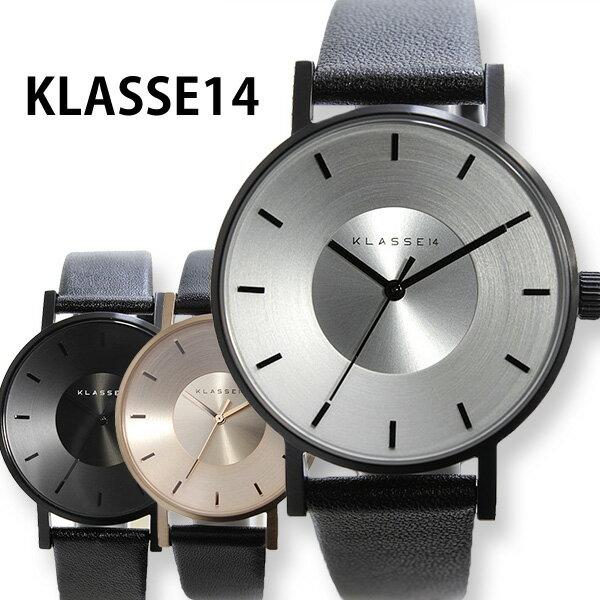 クラス14 腕時計 [ KLASSE14 時計 ] クラスフォーティーン ヴォラーレ メンズ レディース 36mm 42mm [ VO14BK001W VO14BK001M VO14RG001W VO14RG002W VO14BK002M ][ 革ベルト レザー ブラック ピンクゴールド プレゼント ]