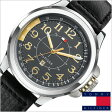 [送料無料]トミーヒルフィガー腕時計[TommyHilfiger時計]( Tommy Hilfiger 腕時計 トミーヒルフィガー 時計 )レザーベルト メンズ/レディース/ブラック/1790843[TOMMY]