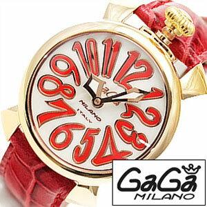 �����ߥ���ӻ���[GaGaMilano����](GaGaMilano�ӻ��ץ����ߥ�λ���)�ޥ̥�����(MANUALE40mm)��˥��å���/�˽����ѻ���/�ۥ磻��/GG-50215[���쥬��ȥ����奢��]