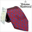 [送料無料]ヴィヴィアンウエストウッドネクタイ [ VivienneWestwoodビジネス ]( Vivienne Westwood ネクタイ ヴィヴィアン ウエストウッド ビジネス) メンズネクタイ/FL74-3-9 [ブランド シルクネクタイ 人気 お洒落 プレゼント ギフト]