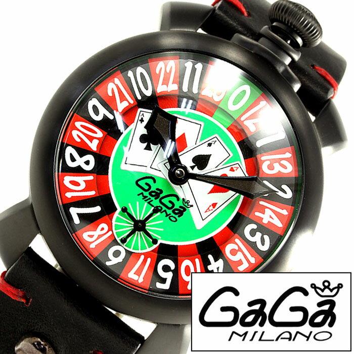ガガミラノ 腕時計 [ GaGa MILANO 時計 ] ガガ ミラノ マヌアーレ [ MANUALE ] 48MM ラスベガス [ LASVEGAS ] グリーン レッド メンズ レディース 5012LAS [ ルーレット トランプ ] [ 20代 30代 40代 50代 60代 ][ 父の日 ][ 誕生日 ][ ハイブリッドスタイルは各種プレゼント・ギフトに対応いたします! ]